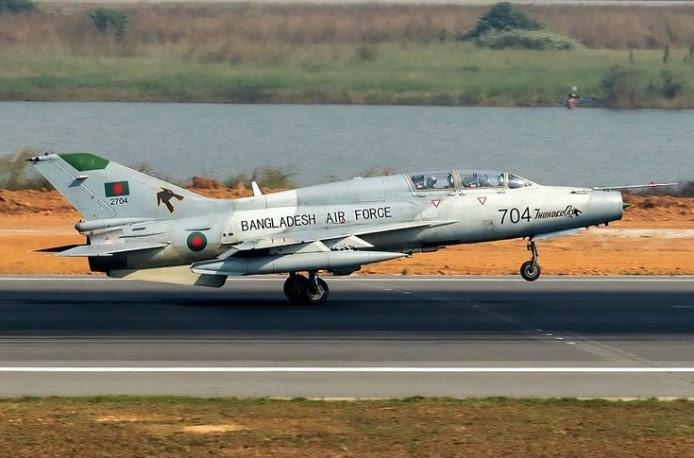 Chengdu F-7BGI da Força Aérea de Bangladesh (Imagem: Murad Hashan)