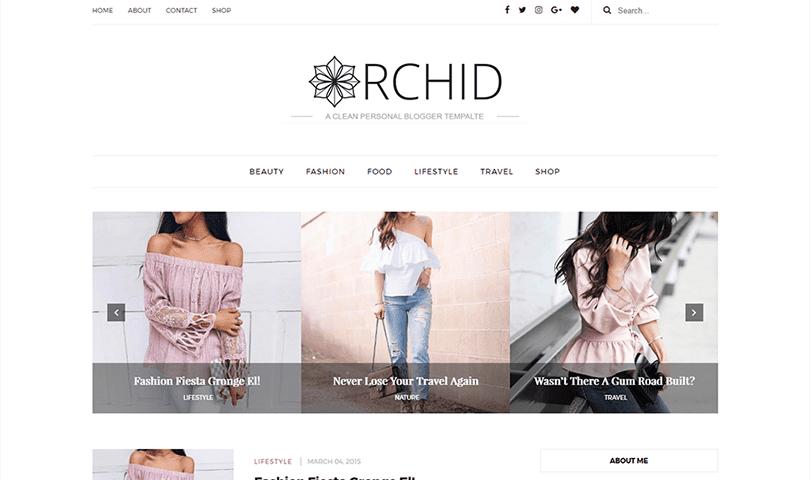 Demonstração Tema Orchid Responsivo Clean para Blogspot 2018