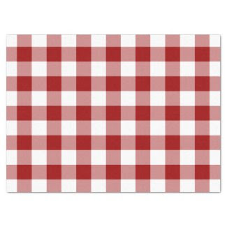 "Red and White Gingham Pattern Tissue Paper 17"" X 23"" Tissue Paper"