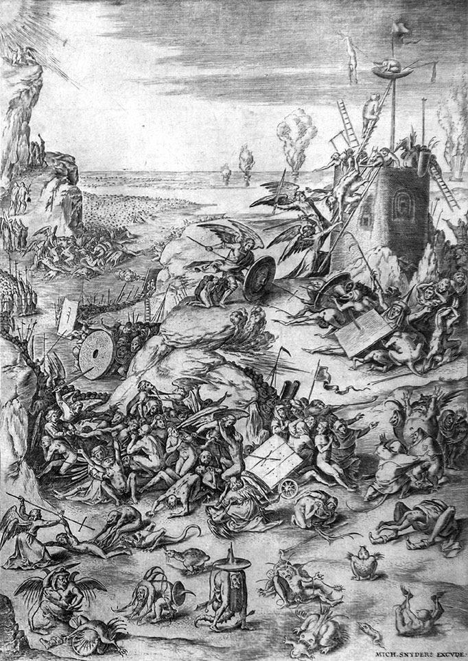 Η Τελική Κρίση. Χαρακτικό του Hieronymus Bosch (1450 - 1516).