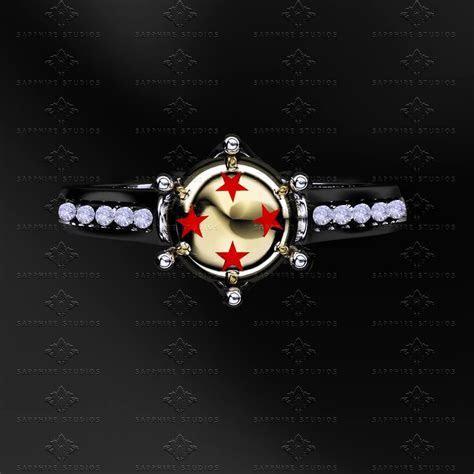 'Dragon Ball Z' White Diamond Sterling Silver Ring