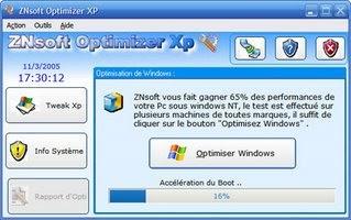 Optimisez Windows avec ZNsoft Optimizer XP
