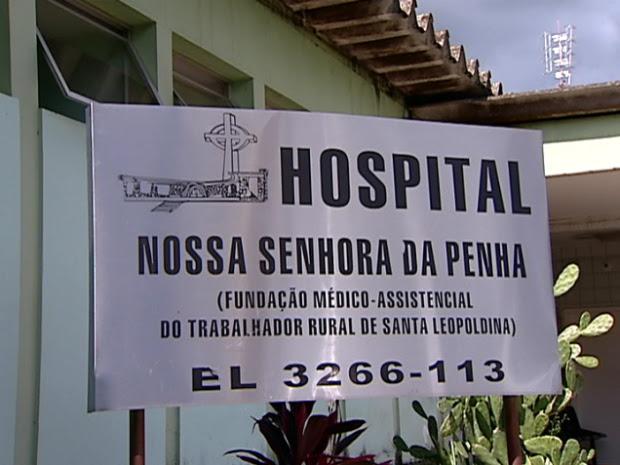 Hospital Nossa Senhora da Penha, em Santa Leopoldina, na região serrana do estado. (Foto: Reprodução/TV Gazeta)