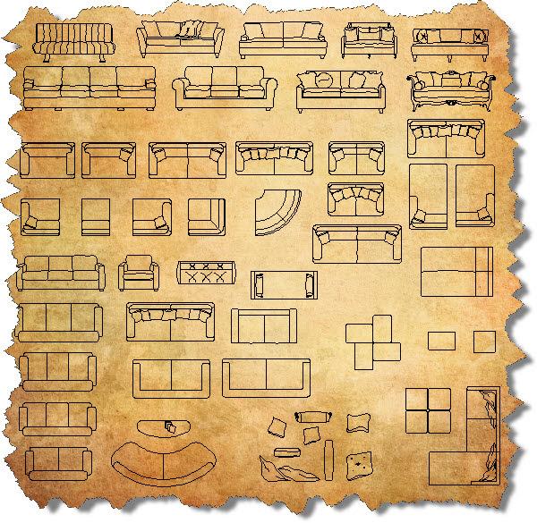 CAD Furniture Blocks | AutoCAD Furniture Symbols | CAD Blocks of
