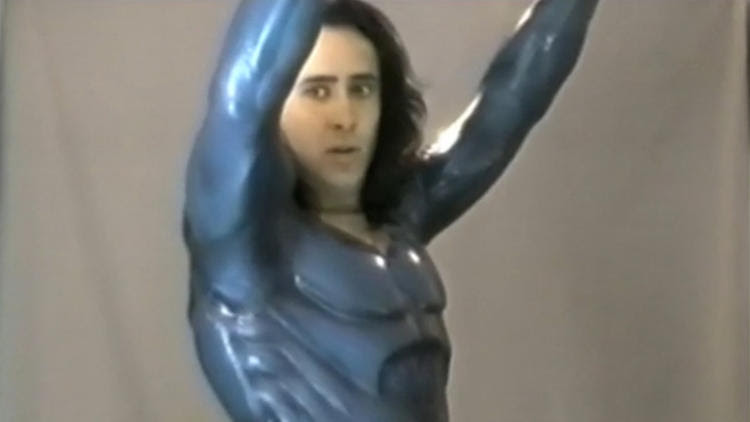 'Superman Lives': Costume test with Nic Cage