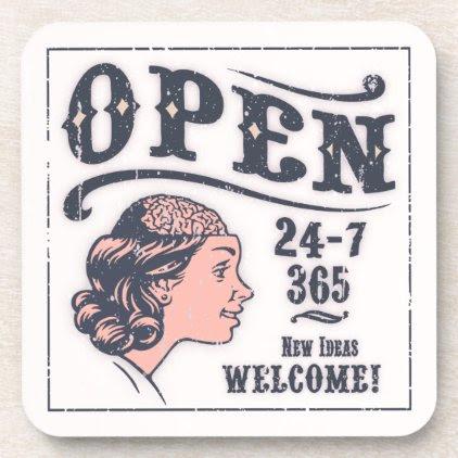 Open Mind -f Drink Coaster