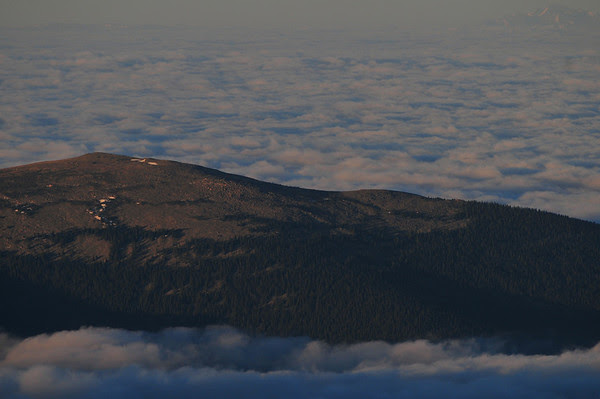 Mount Rosalie in a sea of clouds