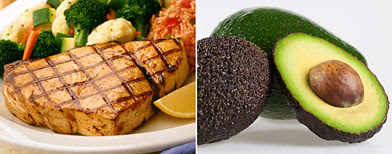 Photos (L-R): Fish (Getty Images); Avocado (ThinkStock)