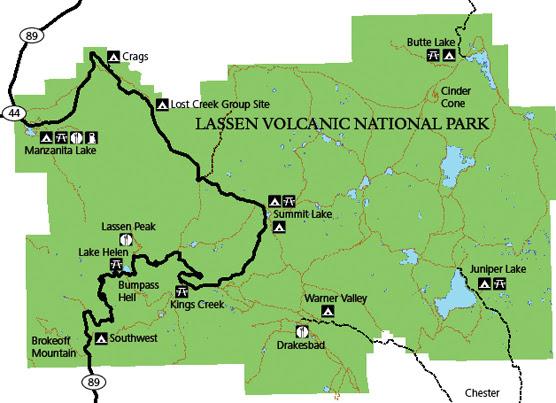 Campgrounds Of Lassen Volcanic Lassen Volcanic National