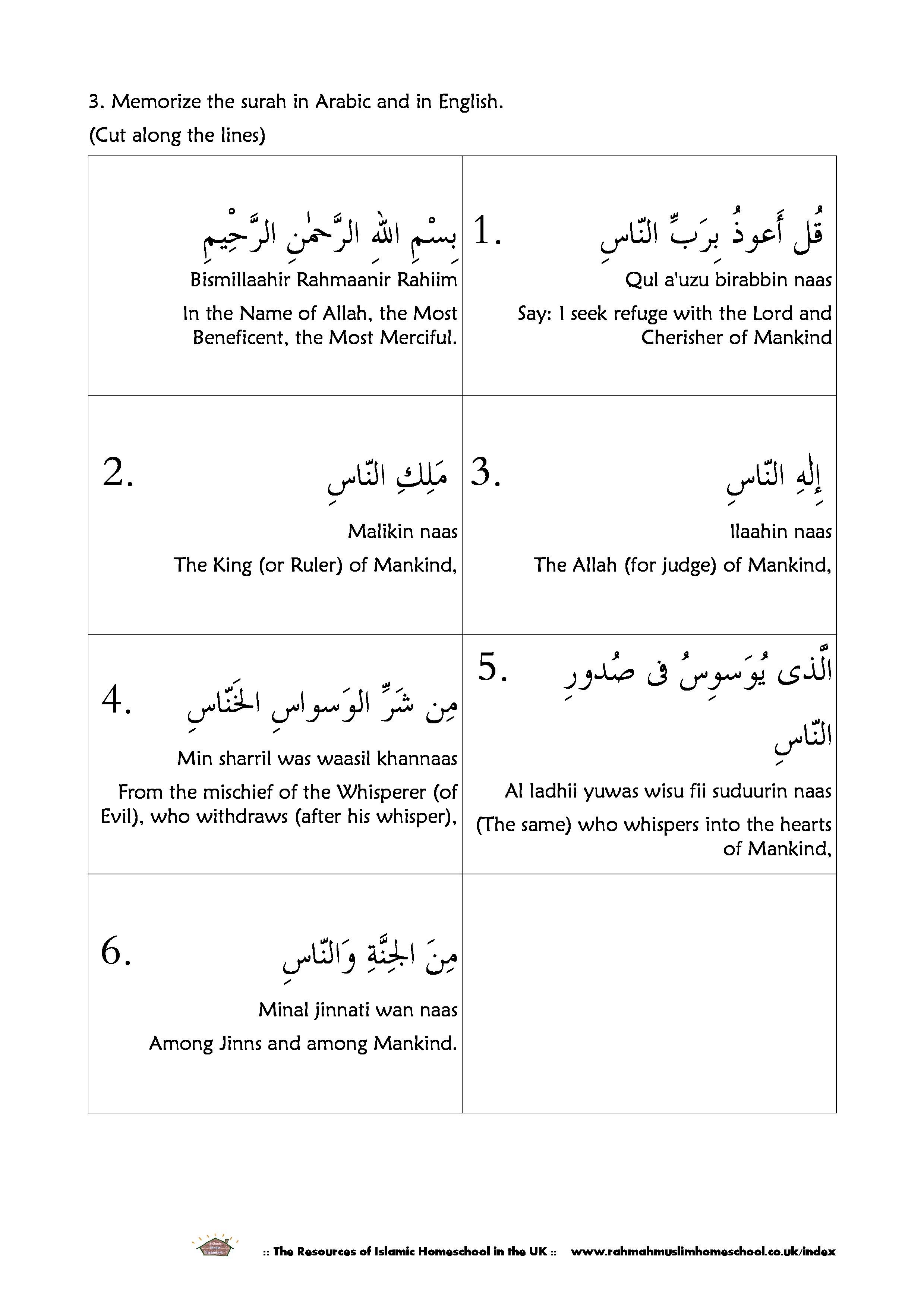 18 MEANING OF SURAH NAAS IN URDU
