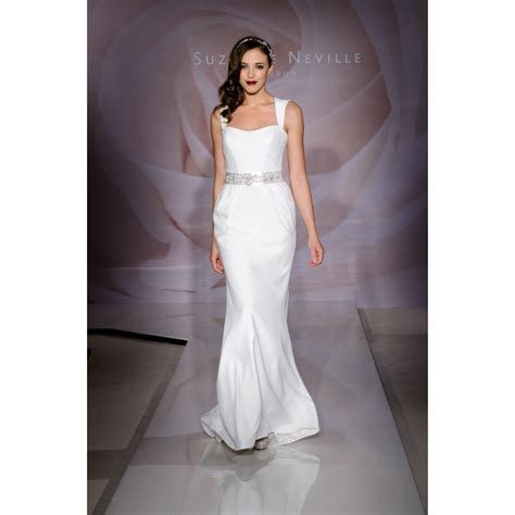 Suzanne Neville Glory 2014 Collection Silk Wedding Dress