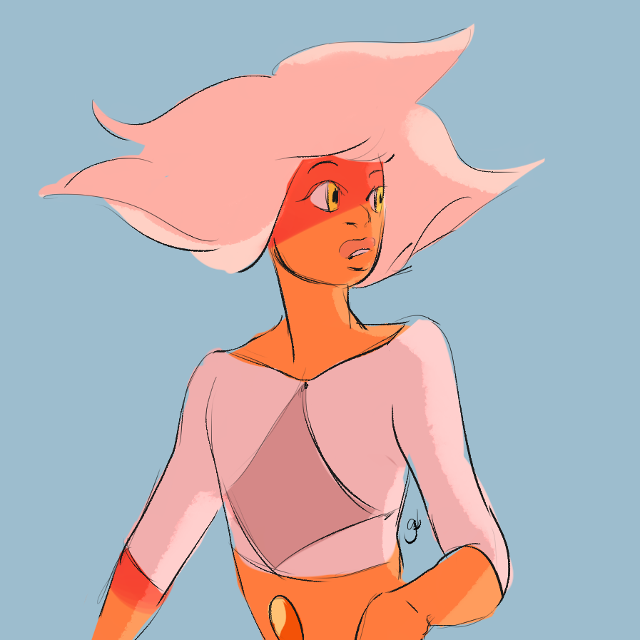 what if quartzes just have pastel clothes when they first emerge