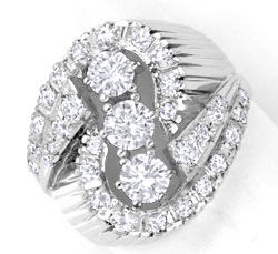 Original-Foto 1, 1A-EXKLUSIVER DIAMANT-RING 18K WEISSGOLD, 1,43ct LUXUS!