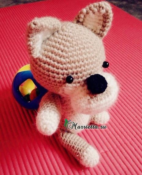 Маленькая собачка амигуруми. Схемы вязания (5) (464x571, 280Kb)