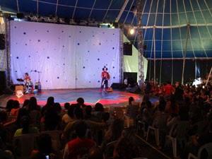 Picadeiro do circo montado no Festival de Inverno de Garanhuns (Foto: Luna Markman / G1 PE)