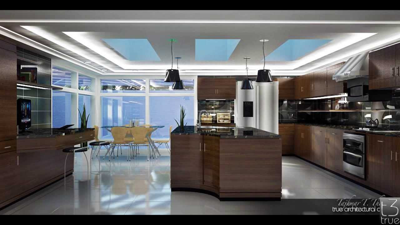 Custom Kitchen Design, vray render. Sketchup - YouTube