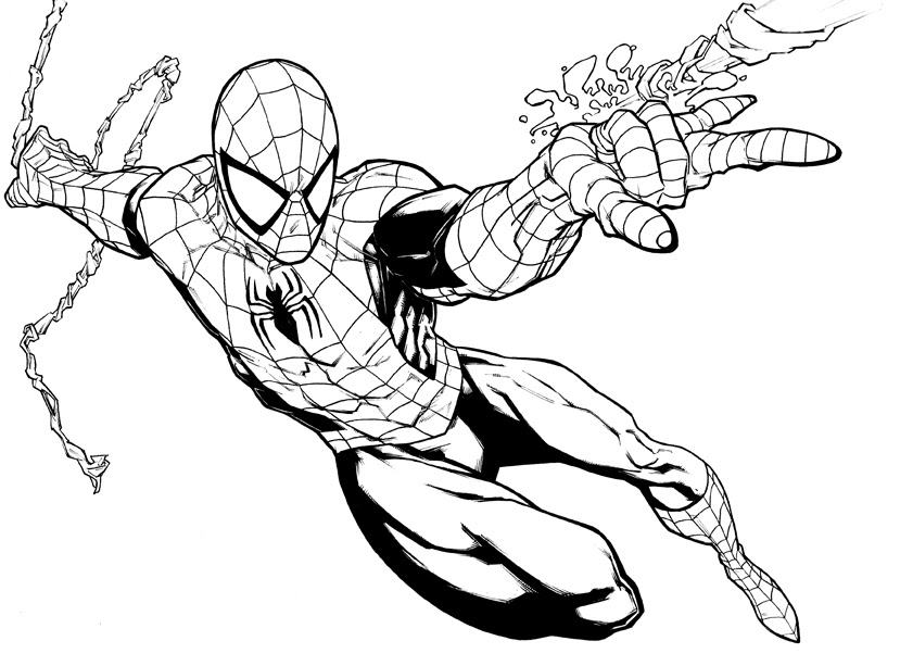 Printable Spiderman Coloring Pages For Kids Cool2bkids Afvere