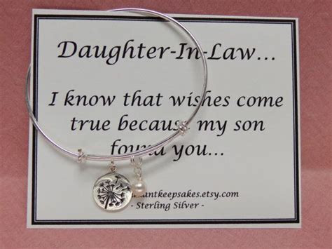 Daughter In Law Gift Idea Wishes Come True Sterling Silver