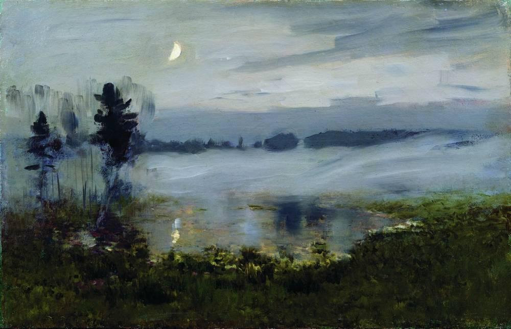 colourthysoul:  Isaac Levitan - Fog over water