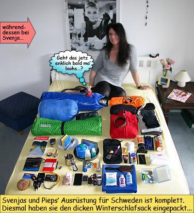 Svenja Svendura mit Ausrüstung