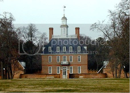 picture of the Governor's Palace at Williamsburg