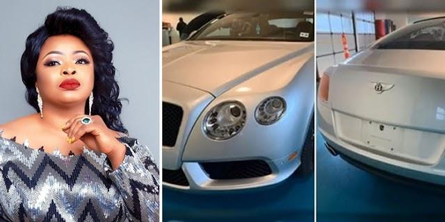 Nollywood Actress Dayo Amusa Acquires Exotic Car (Video)