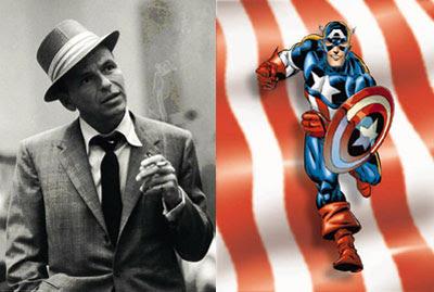 Frank Sinatra and Captain America