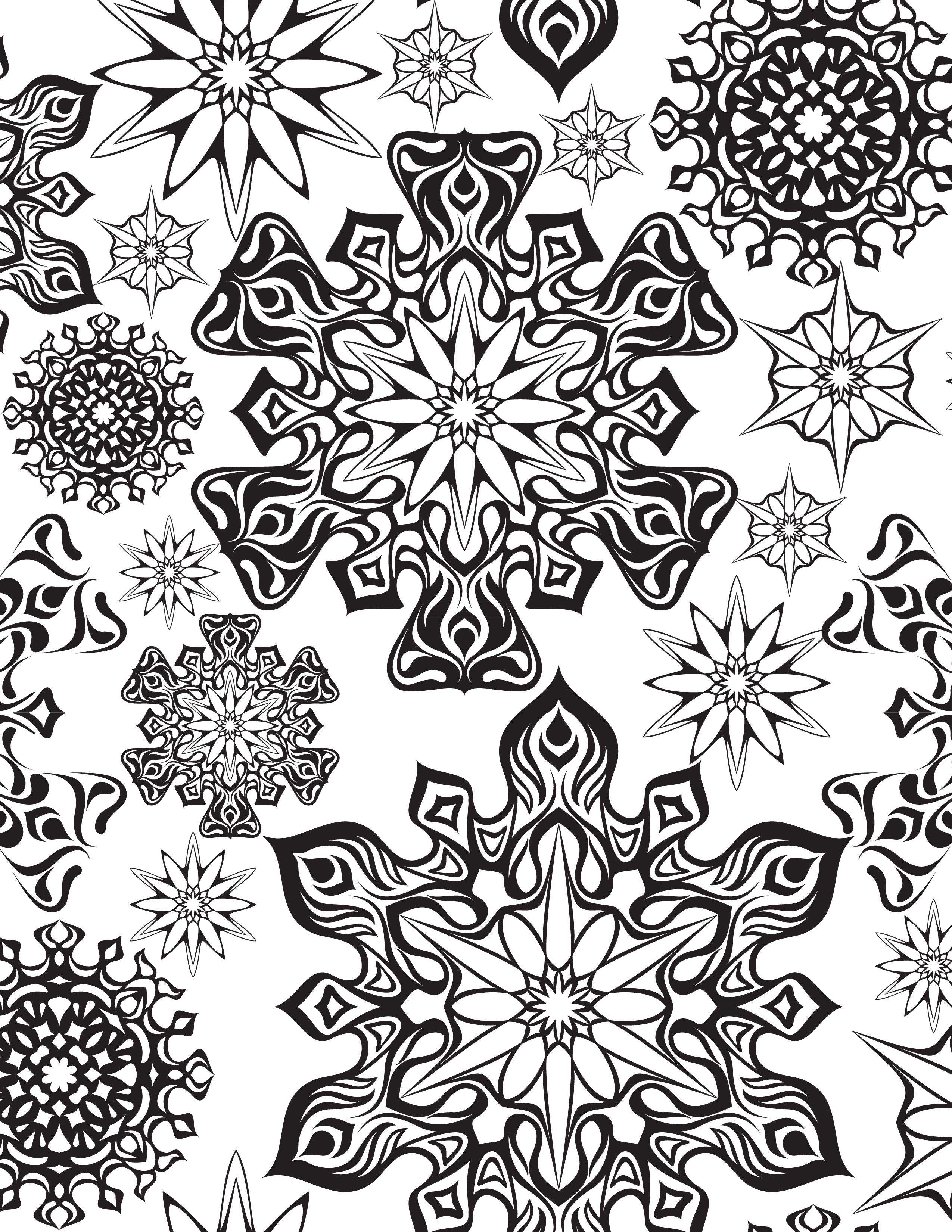 artherapie coloriage gratuit freepik flocons