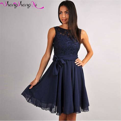 Coral/Navy Blue short Prom Dresses 2017 Knee Length Lace