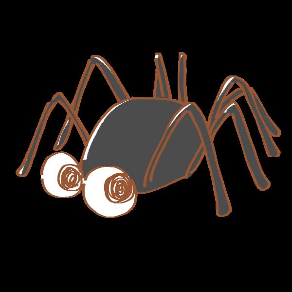 黒い蜘蛛のイラスト かわいいフリー素材が無料のイラストレイン