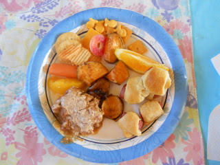 Plate of Orange Day Food