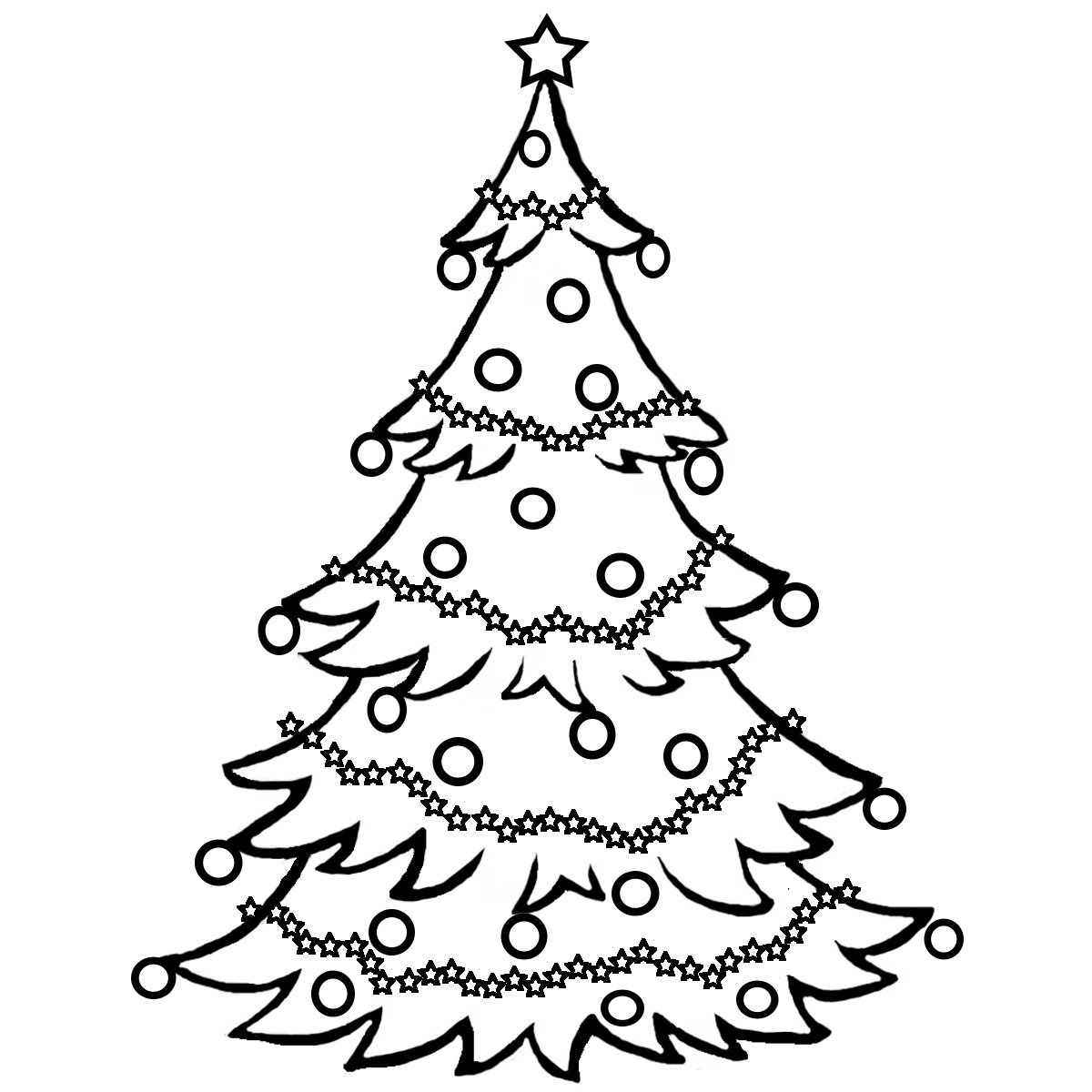 Realistic Christmas Tree Drawing At Getdrawingscom Free For