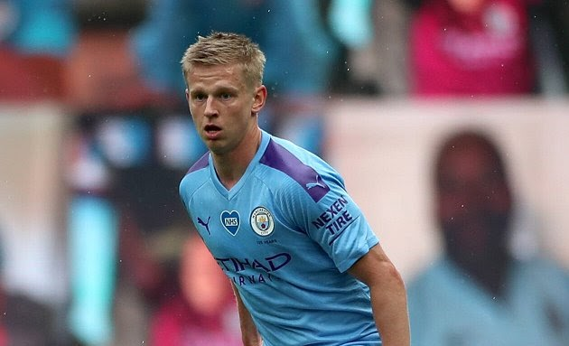 Manchester City boss Pep Guardiola reveals Zinchenko could play as a No10