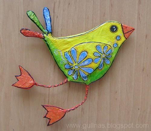 Paper maché bird
