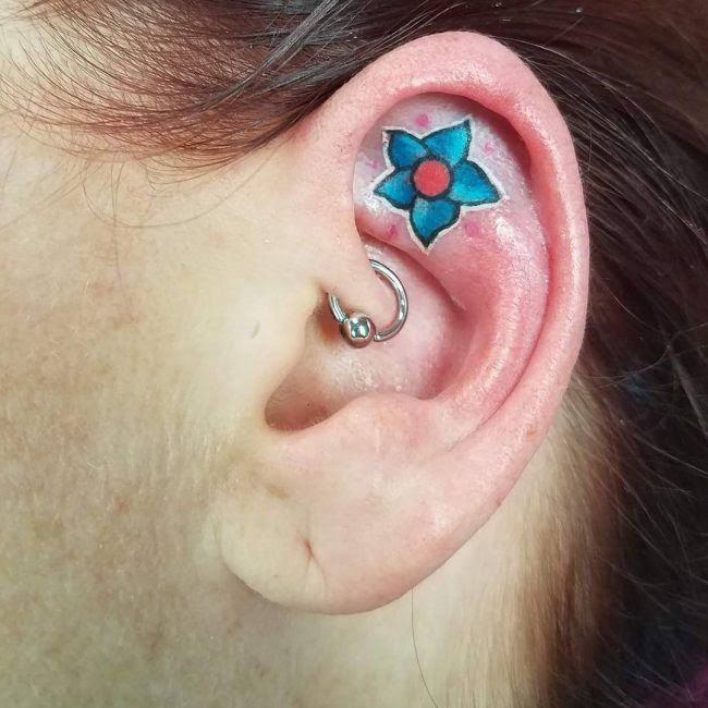 55 Excellent Mini Ear Tattoo Designs Meanings Powerful Ideas 2019