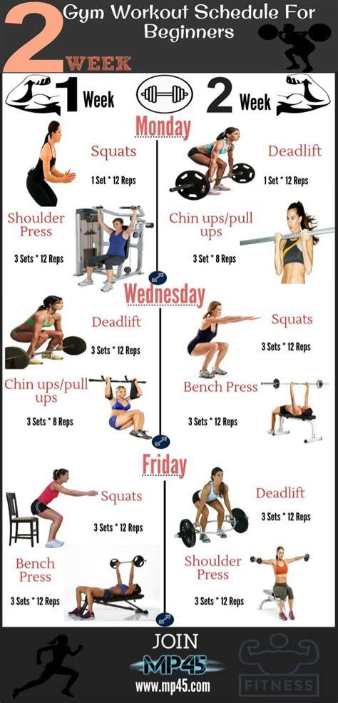 gym workout schedule  beginners