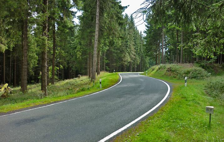 Am Rennsteig in Thüringen mit dem Motorrad