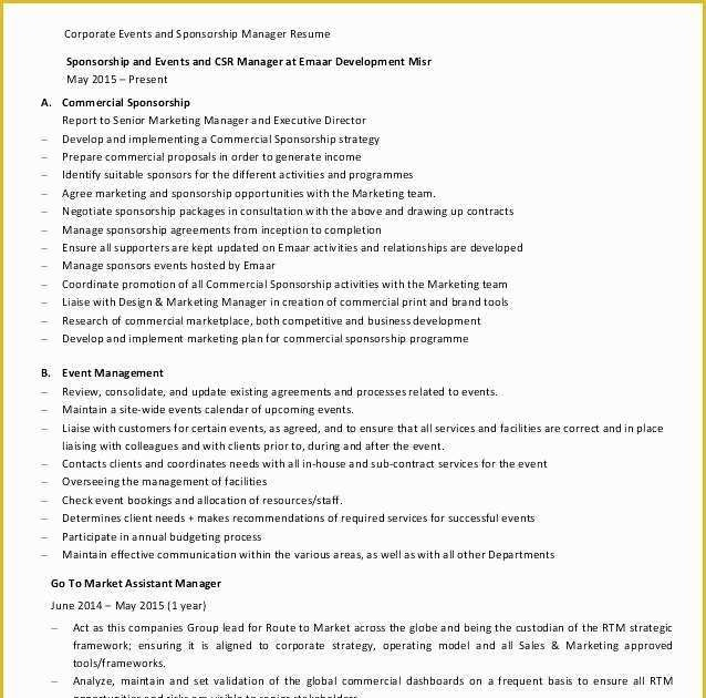 motocross sponsorship resume template  get a nice resume