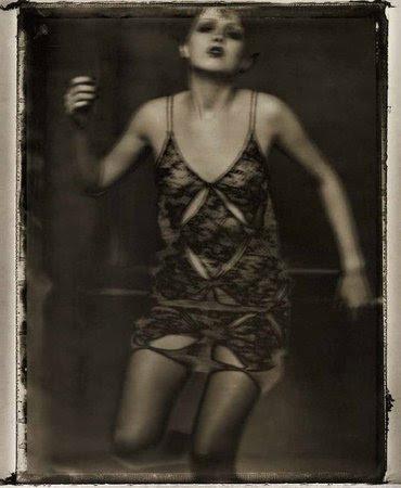 Sarah Moon's Katia wears Enrica Massei, 1997
