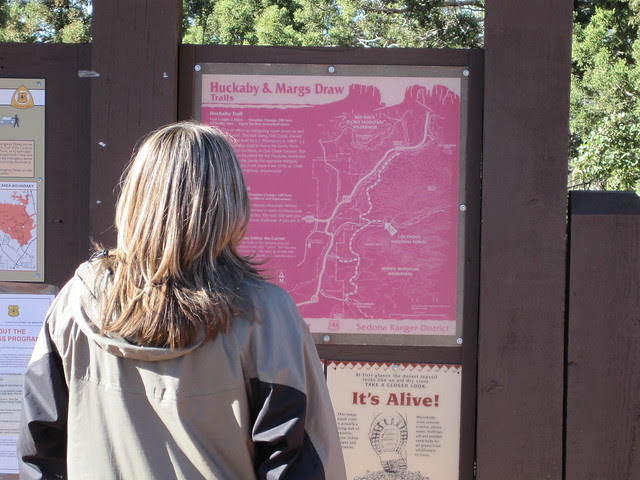 Setting out on the Huckaby trail, Sedona