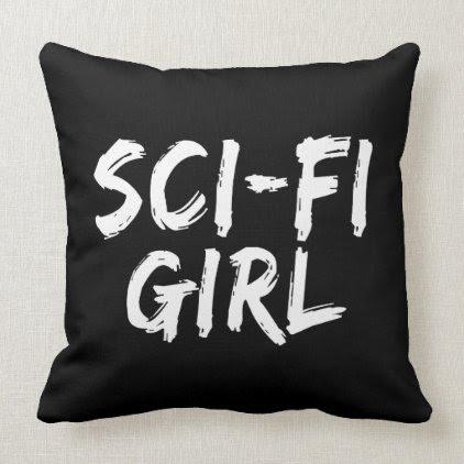 Sci Fi Girl Print Throw Pillow