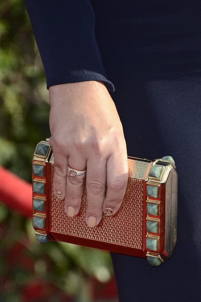Actress Busy Philipps (clutch detail) arrives at the 19th Annual Screen Actors Guild Awards held at The Shrine Auditorium on January 27, 2013 in Los Angeles, California.