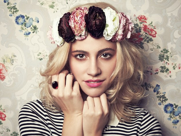 Floral crown: Pixie wanted her fans to be able to copy her style and wear oversized flowery headbands, just like she does