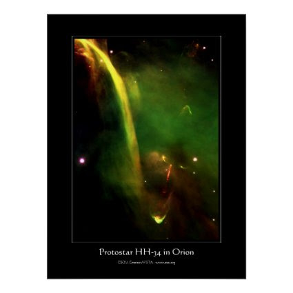 Protostar HH34 near Orion - outer space astronomy Poster