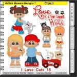 I Love Cats Clipart - CU