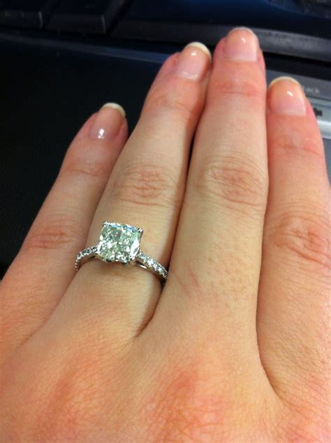 Cushion Cut Engagement Rings Without Halo   Engagement