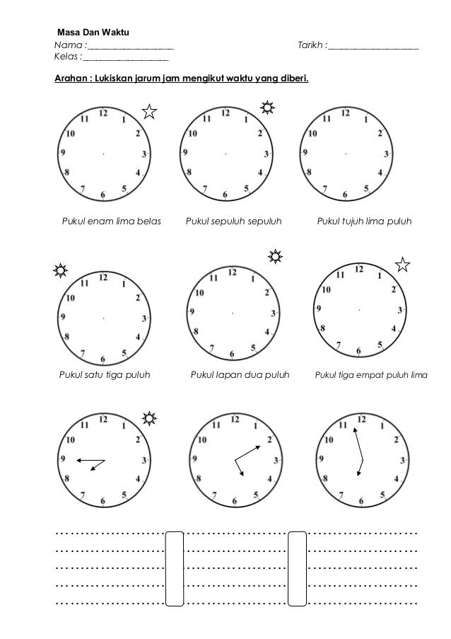 Masa Dan Waktu Tahun 3 Doc Document