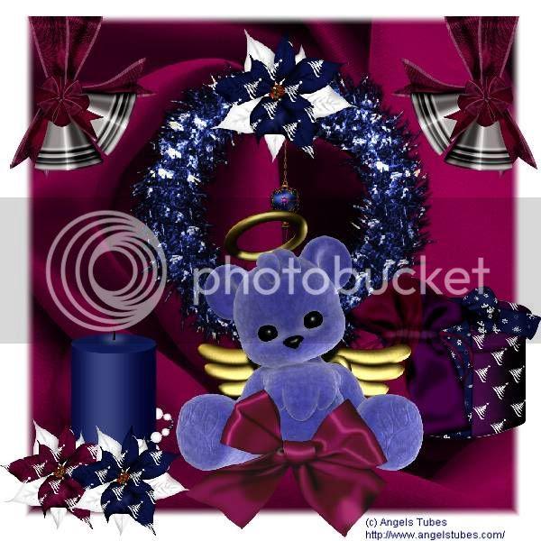Teddy Bear,Happy Holidays,Holiday Glitter,Angels & Devils