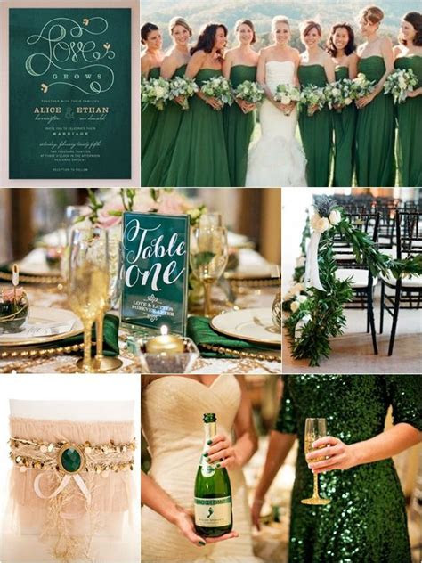 Dark Green Wedding