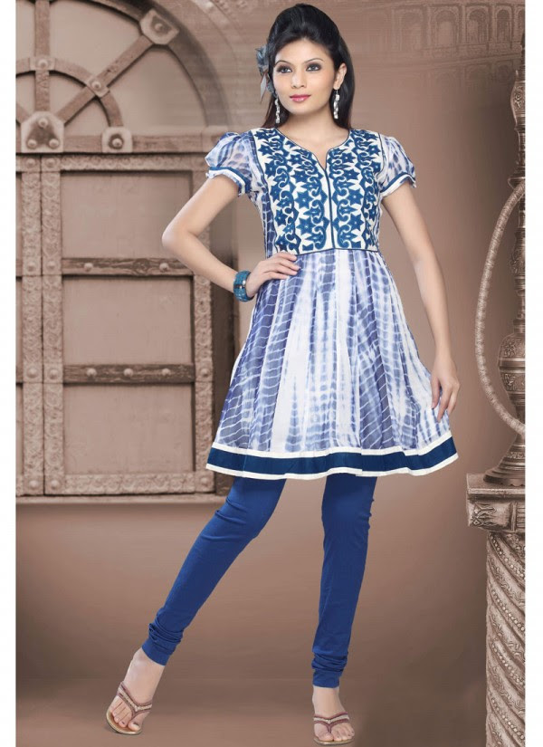 Womens-Girls-Summer-Kurti-Kurta-with-Tights-Jeans-Collection-2013-New-Fashionable-Dress-2